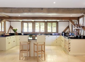 re-modelled kitchen layout